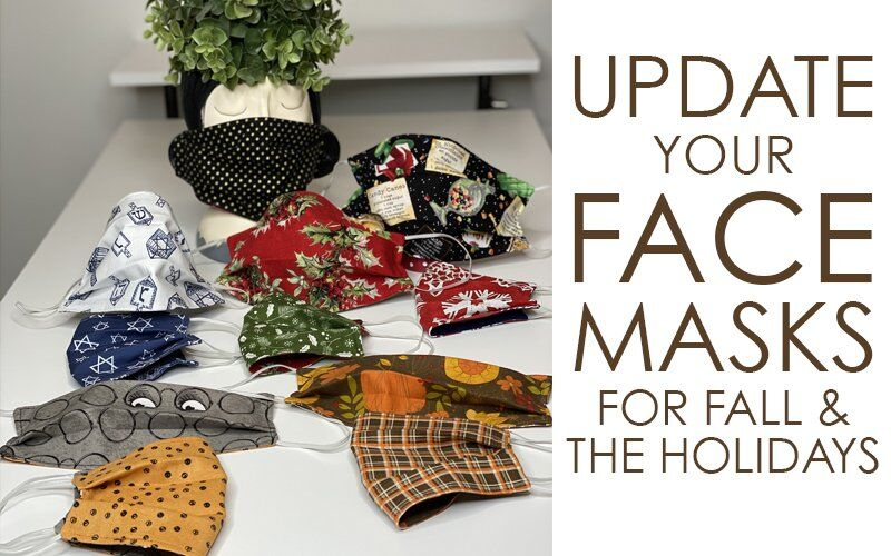 Sewing Face Masks for Fall and the Winter Holidays