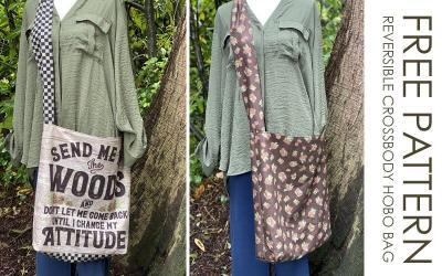 How to Make a Quick & Easy Reversible Crossbody Hobo Bag