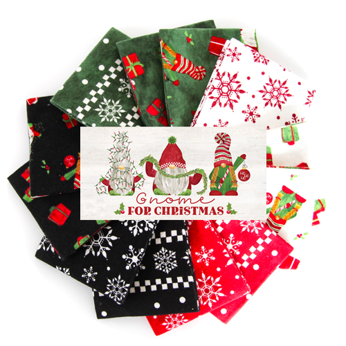 Gnome for Christmas fabric by Tara Reed for Riley Blake Designs