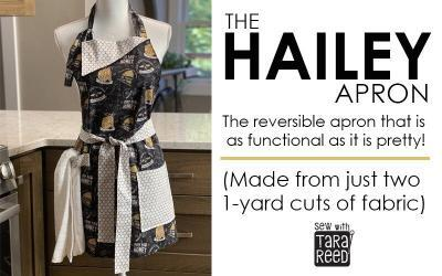 Apron Pattern: cute, reversible and from just two yards of fabric!