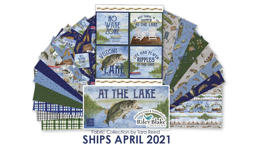 Lake Themed Quilting Fabric by Tara Reed