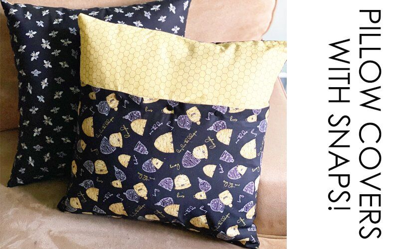How to Create Pillow Covers with a Snap Closure