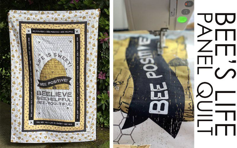 Bee's Life Panel Quilt by Tara Reed for Riley Blake Designs
