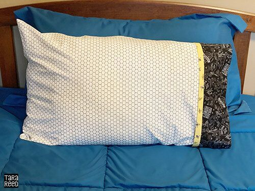 Pillowcase using Bee's Life fabric from Tara Reed for Riley Blake Designs