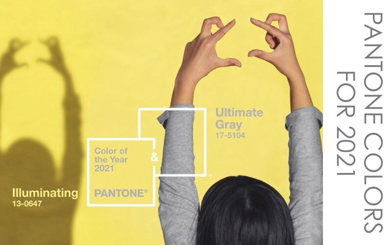 Pantone Colors of 2021: Gray and Yellow