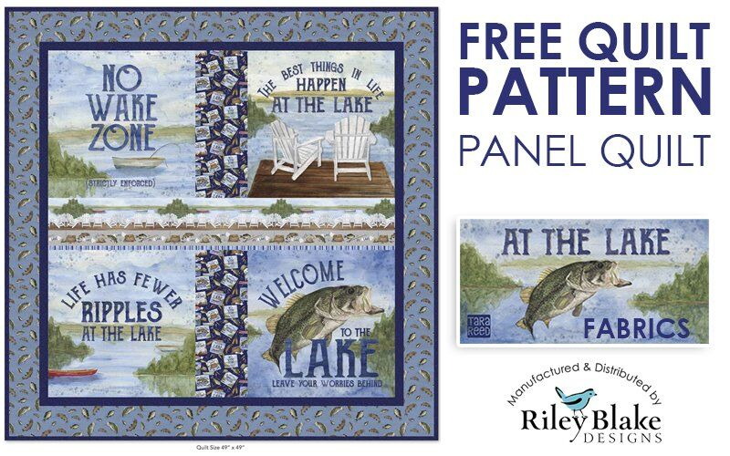 FREE QUILT PATTERN: At the Lake Panel Quilt