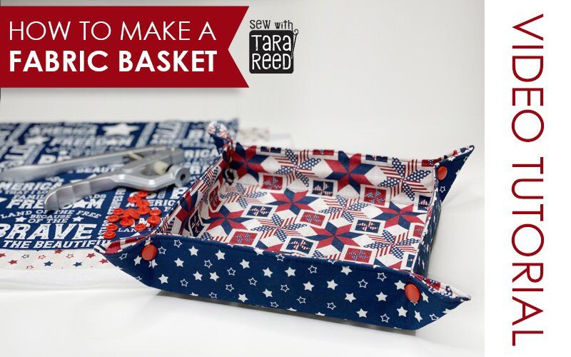 How to Make a Fabric Basket with Snaps