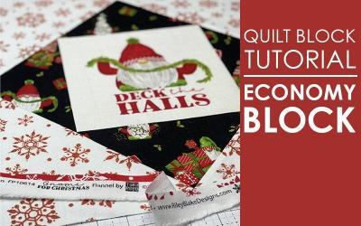 Economy Quilt Block for Christmas – in flannel!