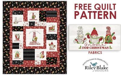 Free Christmas Quilt Pattern: Gnome for Christmas