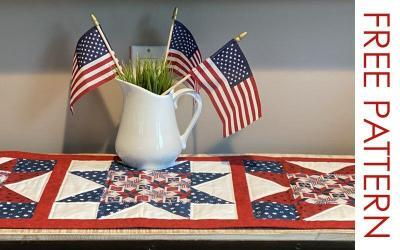 FREE TUTORIAL: Patriotic Table Runner