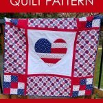 Hearts and Stars Patriotic Quilt Pattern by Tara Reed