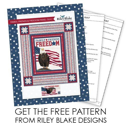 Free patriotic quilt pattern - Let Freedom Soar fabric