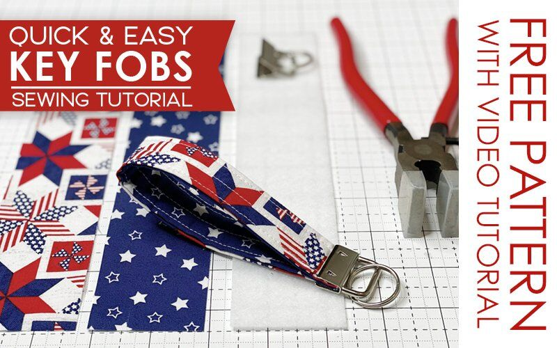 FREE TUTORIAL: How to Sew Key Fobs