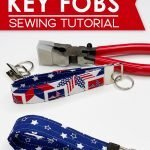 How to sew your own key fobs