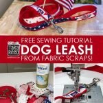 Sewing Tutorial: Make your own dog leash from fabric scraps