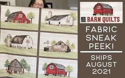 Barn Quilts fabric – Sneak Peek