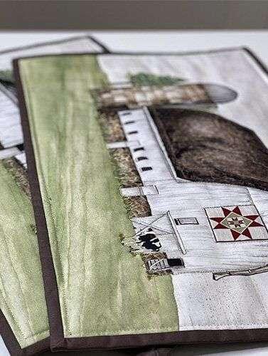 Barn Quilts Fabric by Tara Reed
