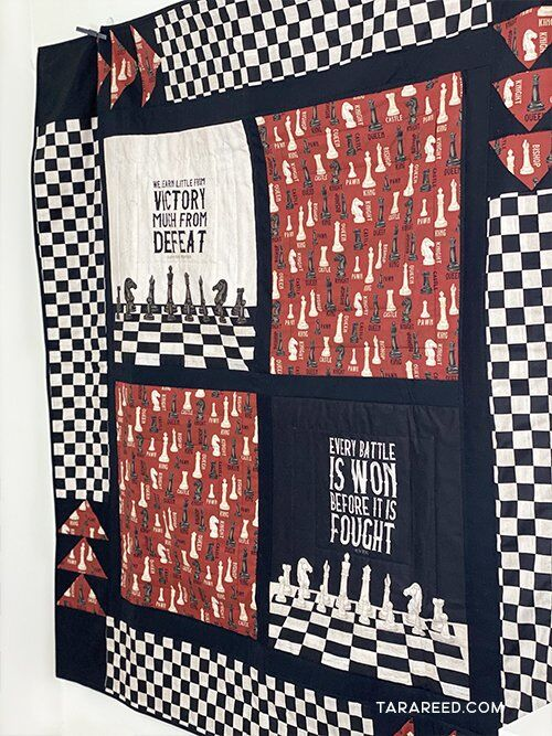 quilt from Chess Fabric by Tara Reed