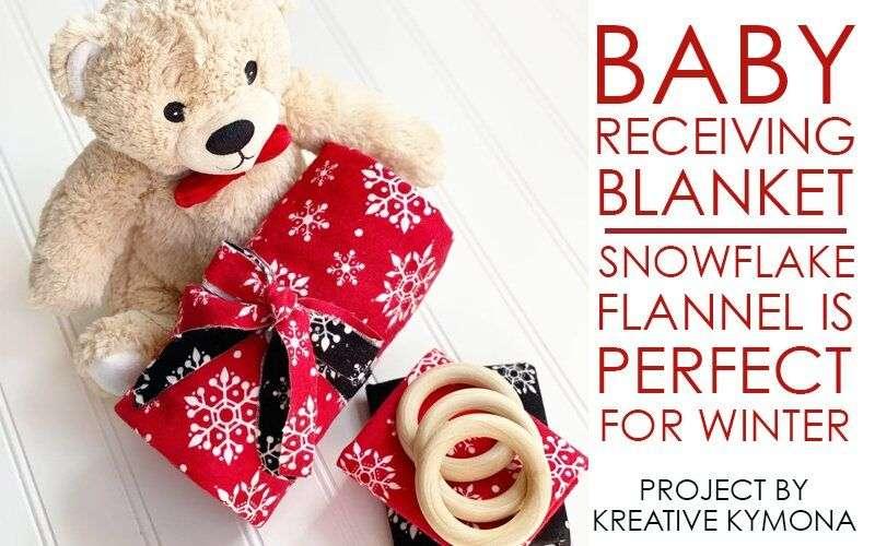 Flannel Snowflake Baby Receiving Blanket – Snow Cute!