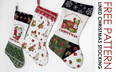 Free Lined Christmas Stocking Tutorial