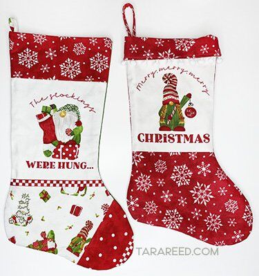 Christmas Stocking tutorial with the Gnome for Christmas quilt panel
