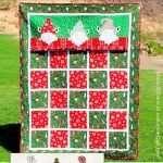 Christmas Gnome Applique Quilt Pattern