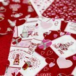 Gnomes in Love fabric by Tara Reed