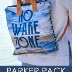 Parker Pack with At the Lake fabric by Tara Reed
