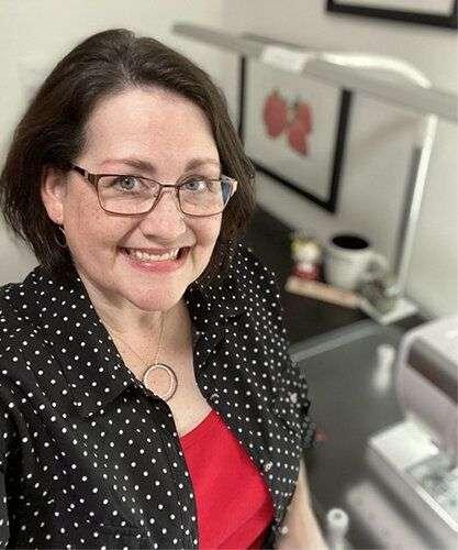Tara Reed at Sewing Machine