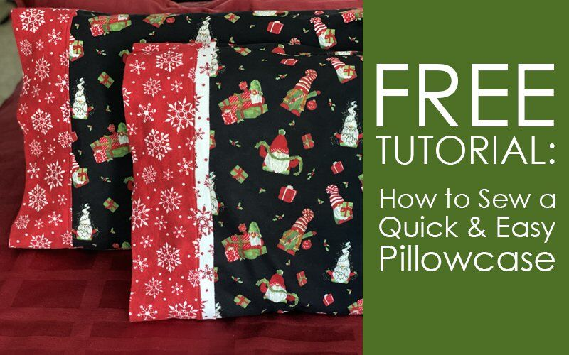 How to Sew a Pillowcase with Directional Fabric