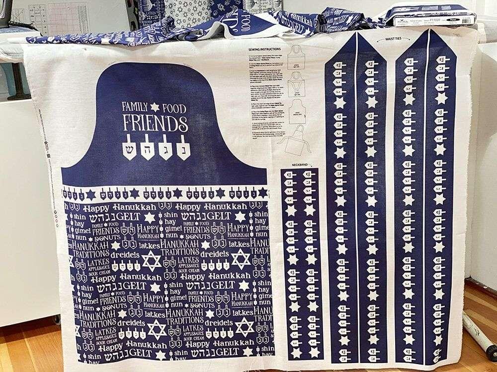 Hanukkah Apron Panel by Tara Reed for Riley Blake Designs