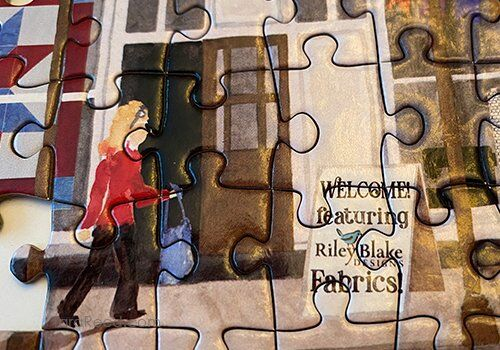 Quilt Shop Village Puzzle by Tara Reed for Riley Blake Designs