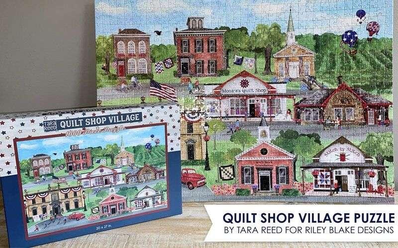 Quilt Shop Village Puzzle