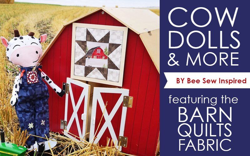 Cow Dolls using Barn Quilts Fabric
