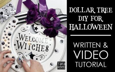 Dollar Tree Craft – Halloween Round Sign Tutorial