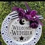 Dollar Tree Craft - Halloween Round Sign Tutorial by Tara Reed