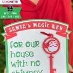 3D Santa's Magic Key Layered Paper Cut Design